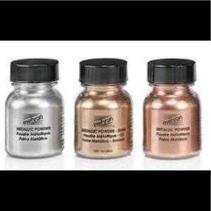 Set of three, Mehron Metallic powder Makeup